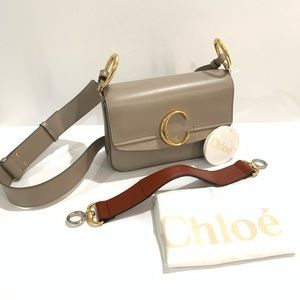 Chloe Small C Double Carry Two Tone Bag